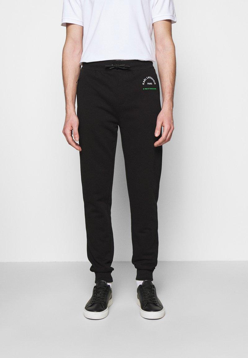 KARL LAGERFELD - PANTS - Tracksuit bottoms - black