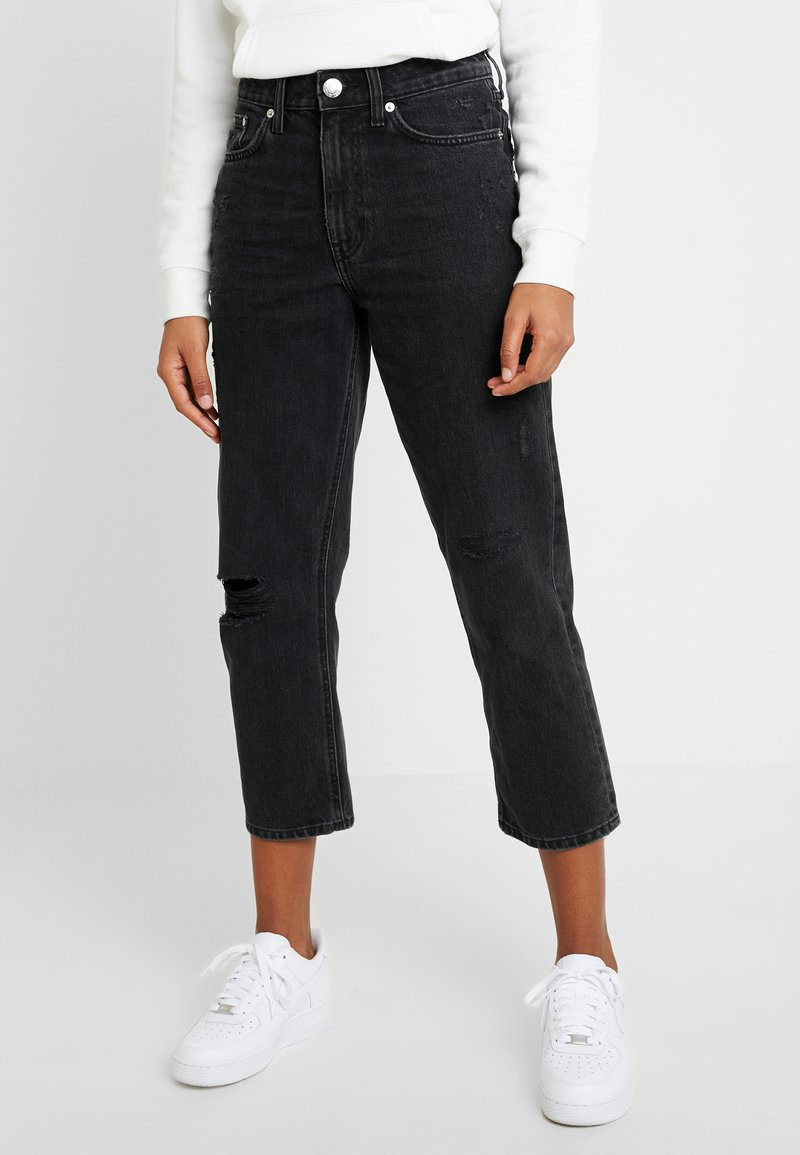 River Island - Jeans Straight Leg - washed black
