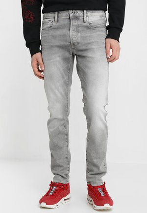 3301 SLIM - Jean slim - kamden grey stretch denim light aged