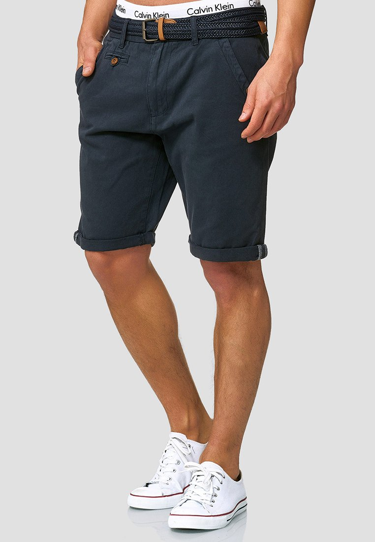 INDICODE JEANS - CASUAL FIT - Shorts - blau navy