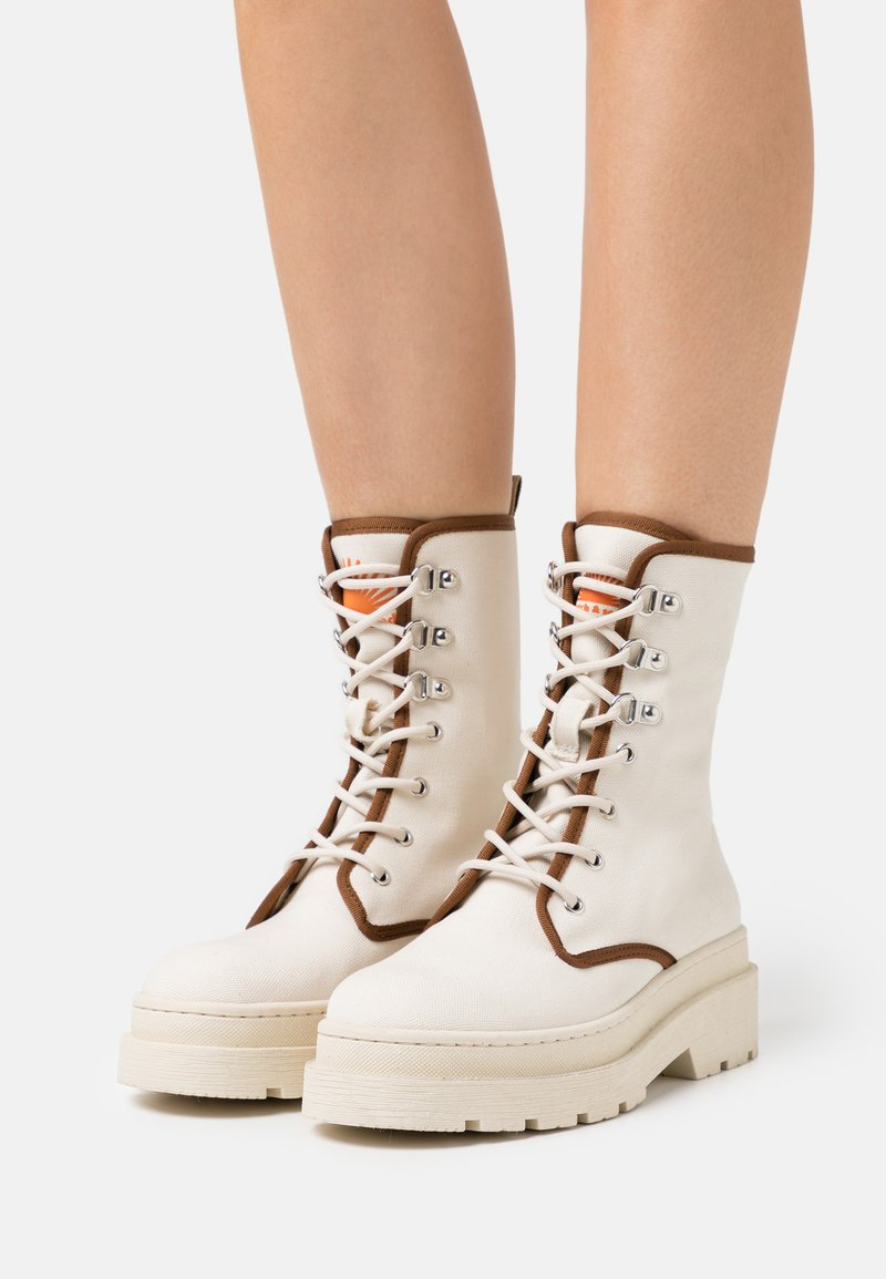 Scotch & Soda - AUBRI BOOT - Lace-up ankle boots - weiß