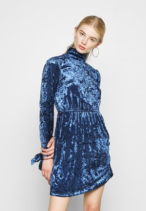 COSTELLO CRUSHED HIGH NECK  - Day dress - blue