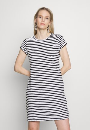 TEE DRESS - Jersey dress - black/white