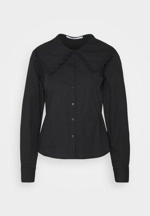 EMBROIDERY COLLAR - Skjorte - black