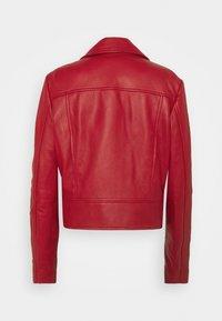 Pinko - SENSIBILE CHIODO - Leather jacket - red - 1