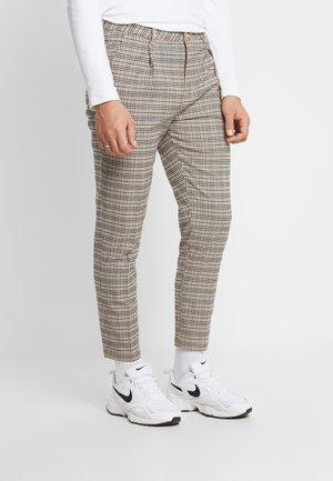 OXFORD - Trousers - brown mini check