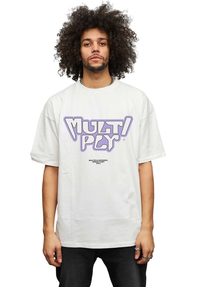 SPACE FONT - T-shirt print - off white