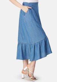 HELMIDGE - A-line skirt - blau - 4