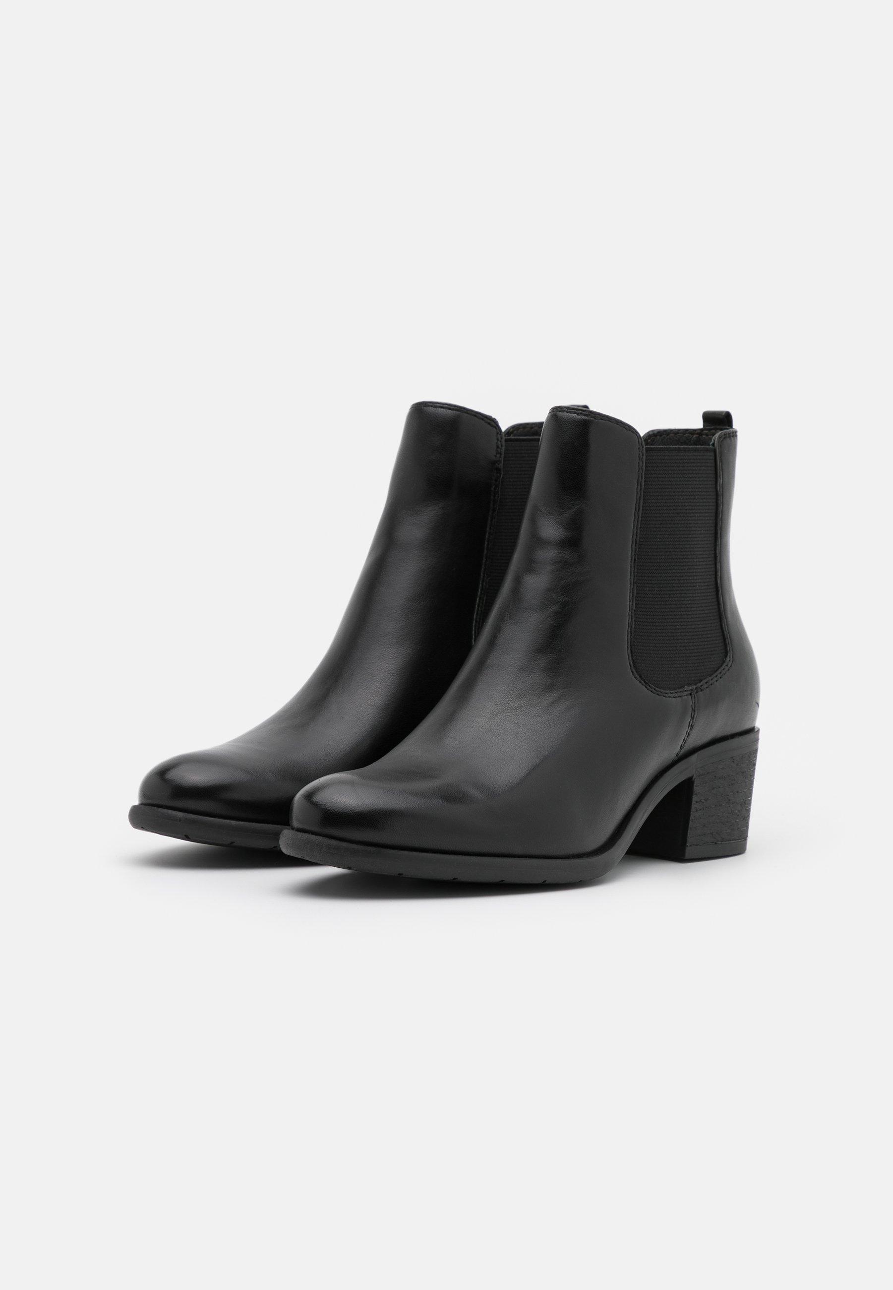 Anna Field LEATHER Ankle Boot black/schwarz