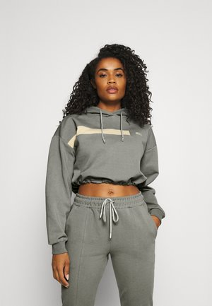 CROPPED SPORTS SUIT SET - Tracksuit - grey