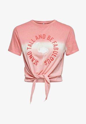 BATIK KNOTENDETAIL - Print T-shirt - strawberry pink