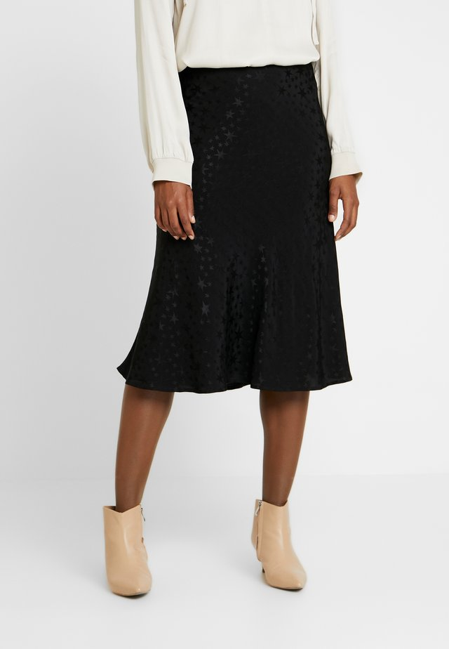 CANTERBURY STAR - A-line skirt - black