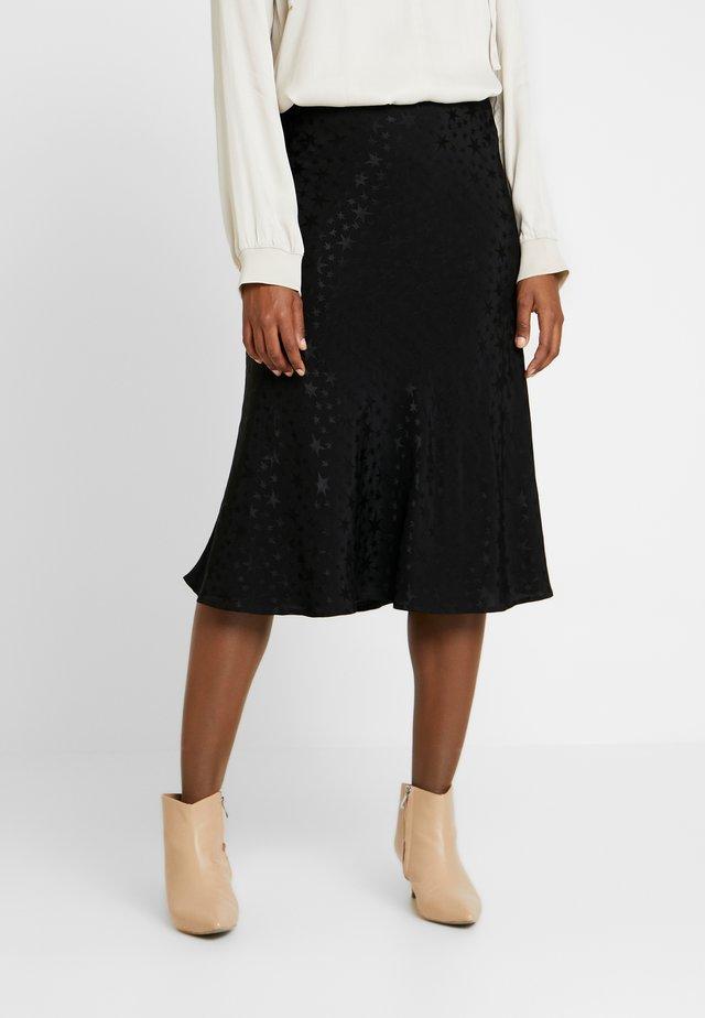 CANTERBURY STAR - Áčková sukně - black