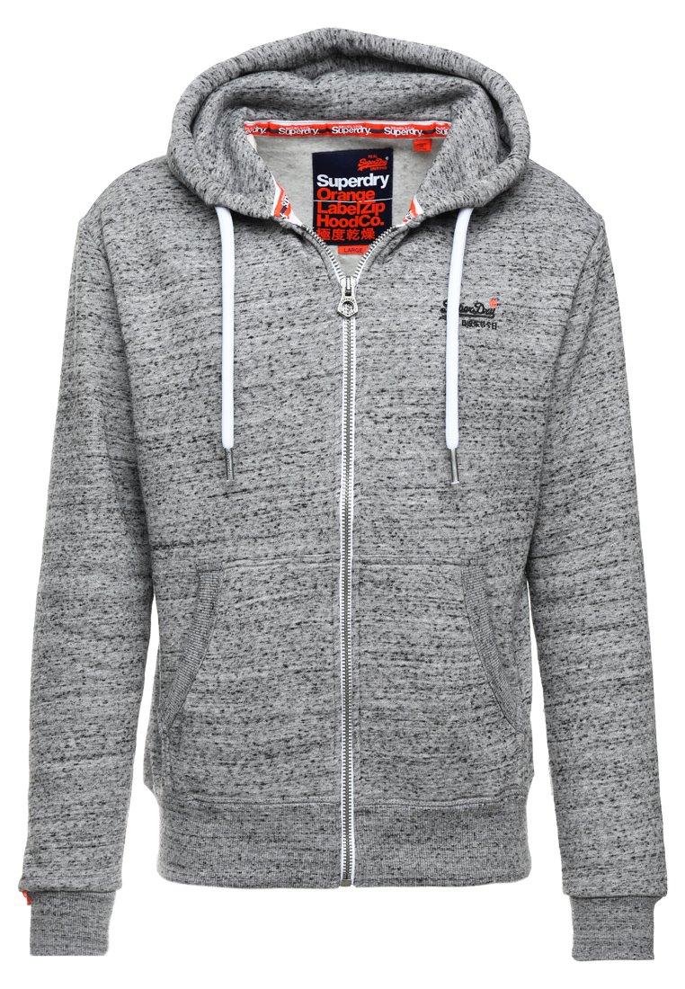 Superdry LABEL ZIPHOOD - veste en sweat zippé