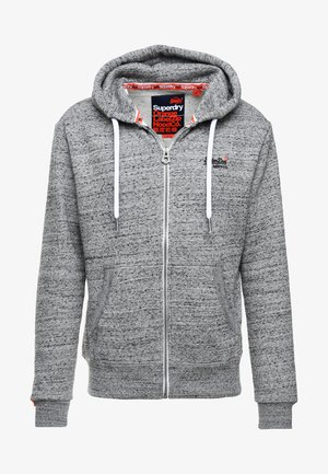 LABEL ZIPHOOD - Huvtröja med dragkedja - flint grey grit