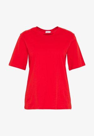CREW NECK TEE - Basic T-shirt - red orange