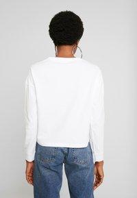 Noisy May - NMODESSA - Camiseta de manga larga - bright white/black - 2