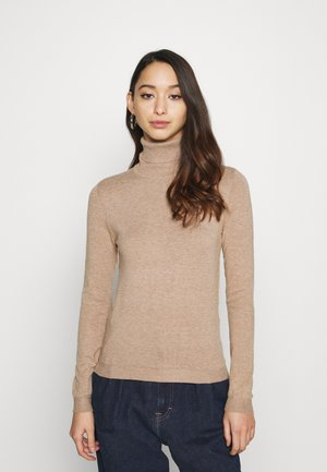 VMHAPPINESS ROLLNECK  - Strikkegenser - tobacco brown melange