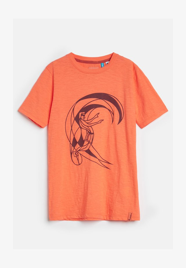 TEES CIRCLE SURFER SS T-SHIRT - T-shirt print - living coral