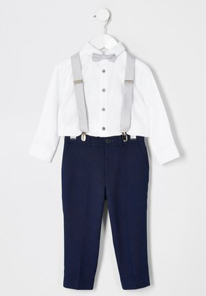 SET - Broek - blue/white