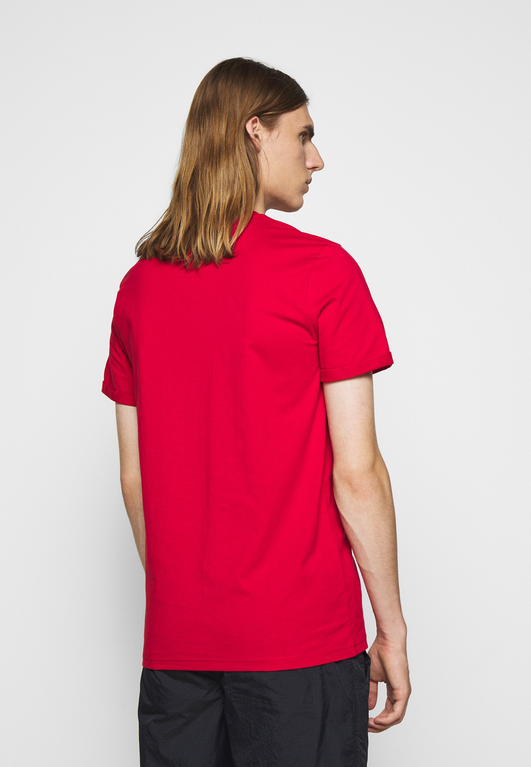 Les Deux LENS - T-Shirt basic - red/black/rot - Herrenbekleidung e4W3P