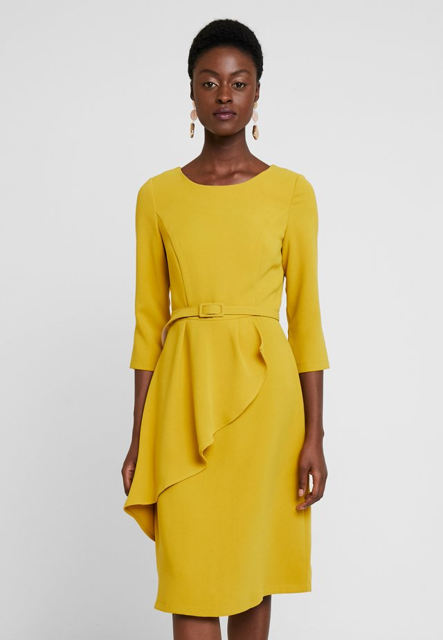 DRESS WITH BELT - Vestito estivo - yellow