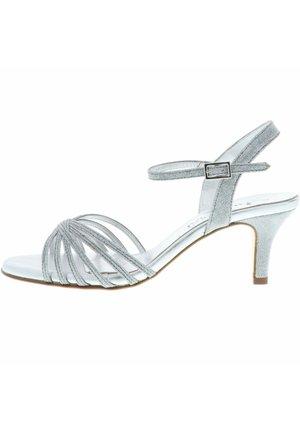 SANDALETTEN SANDALEN GLITZER - High heeled sandals - silber