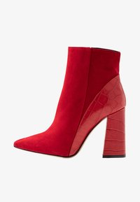 High heeled ankle boots - kenia rosso