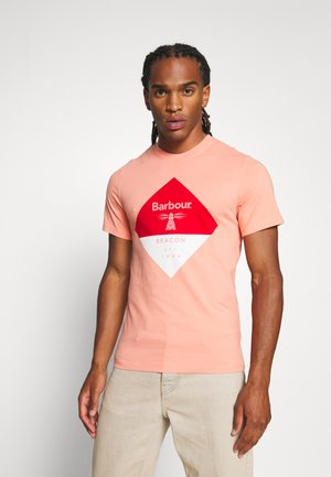 DIAMOND TEE - T-shirt med print - burnt coral