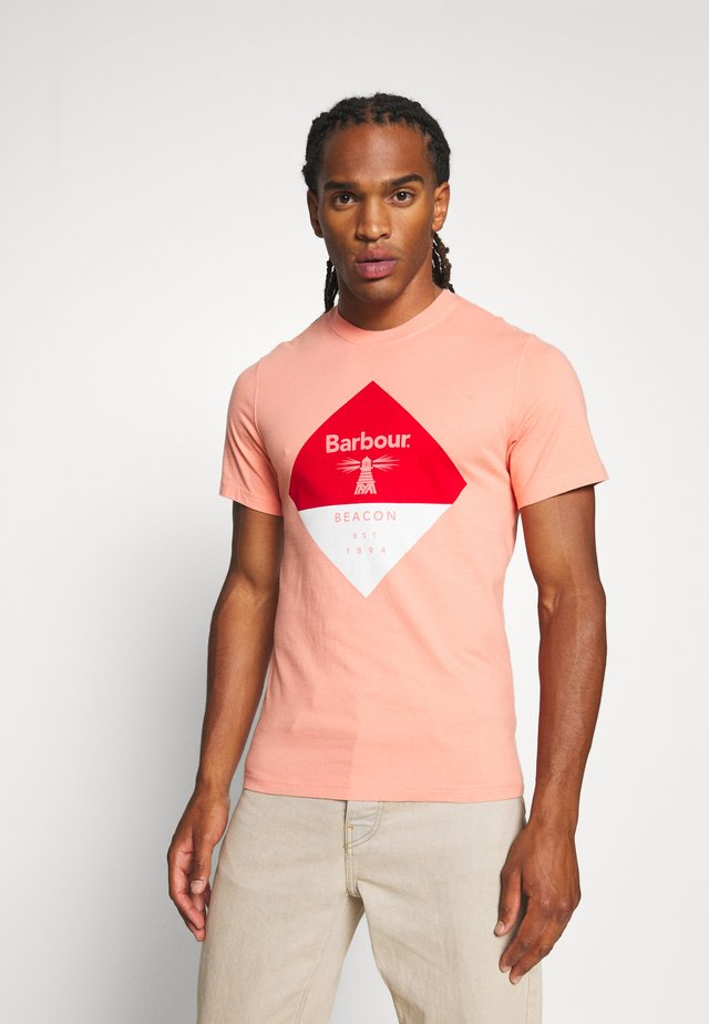 DIAMOND TEE - T-shirt z nadrukiem - burnt coral