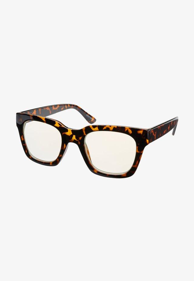 NOVA BLUE LIGHT GLASSES - Sunglasses - tortoise