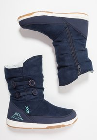 Kappa - Winter boots - navy/mint - 0