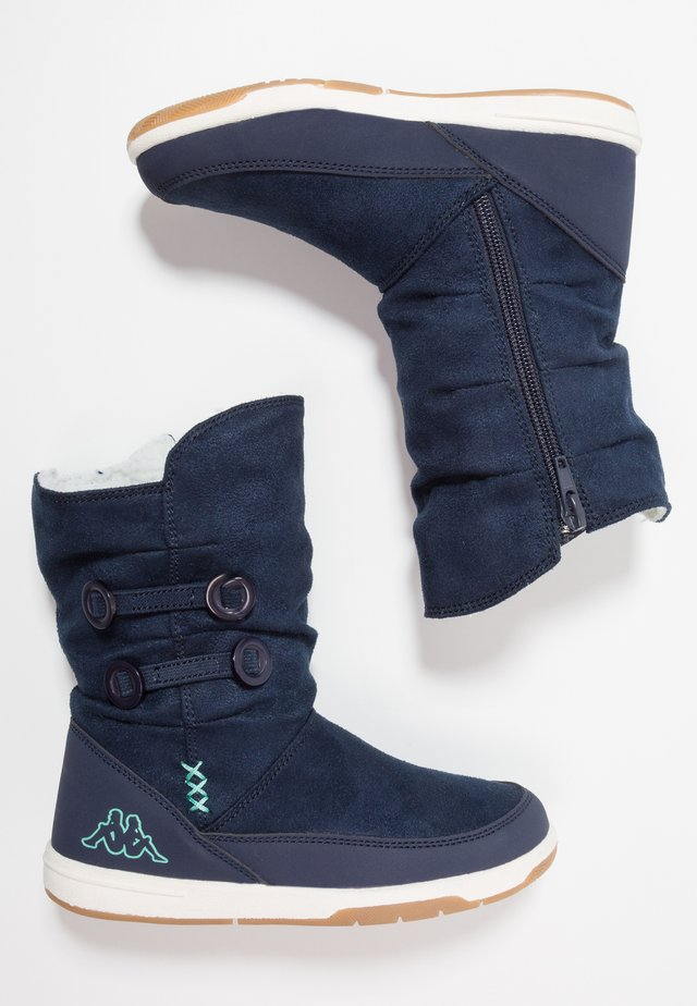 Winter boots - navy/mint