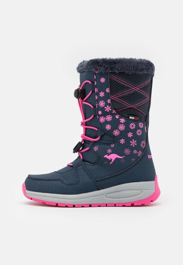 K-GLAZE RTX - Winter boots - dark navy/daisy pink