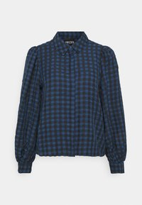 Pieces Petite - PCLUNNA SHIRT - Button-down blouse - black/navy - 5