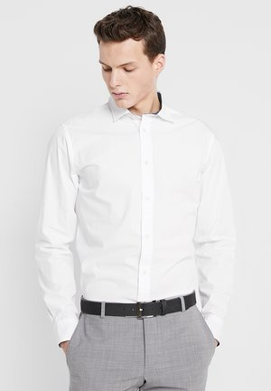 SLHSLIMMARK WASHED - Kostymskjorta - bright white