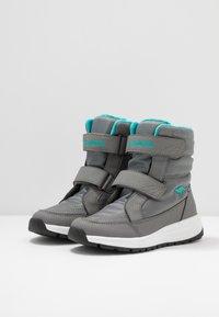 KangaROOS - K-FLOSSY RTX - Winter boots - steel grey/turquoise - 3