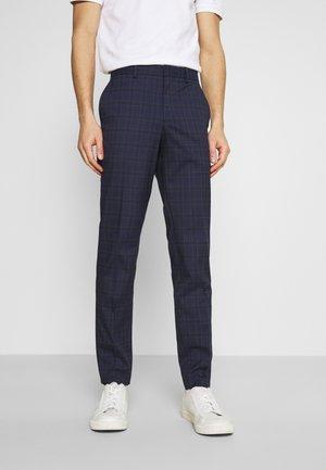 SLHSLIM KYLELOGAN  - Trousers - navy blue/light blue