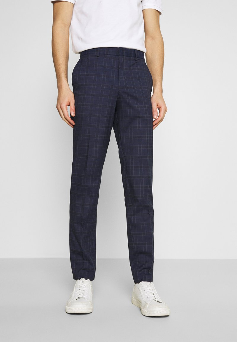 Selected Homme - SLHSLIM KYLELOGAN  - Trousers - navy blue/light blue