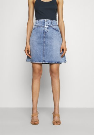 IBBIE - Denim skirt - mid blue