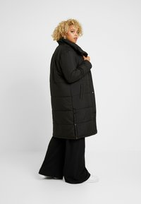 Simply Be - LONG PUFFER COAT WITH CONTRAST LINING - Villakangastakki - black - 2
