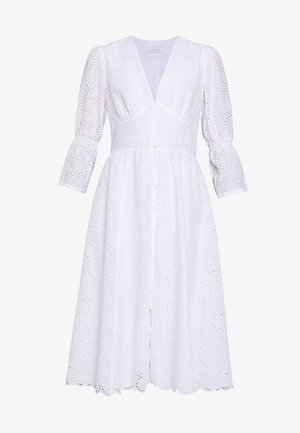 BROIDERY ANGLAISE DRESS - Denní šaty - bright white