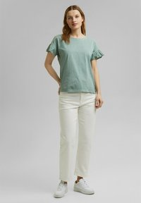 Esprit - WASH TEE - Print T-shirt - turquoise - 1