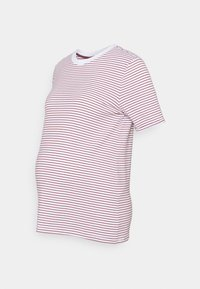 Pieces Maternity - PCMRIA FOLD UP - Print T-shirt - bright white/apple butter - 0