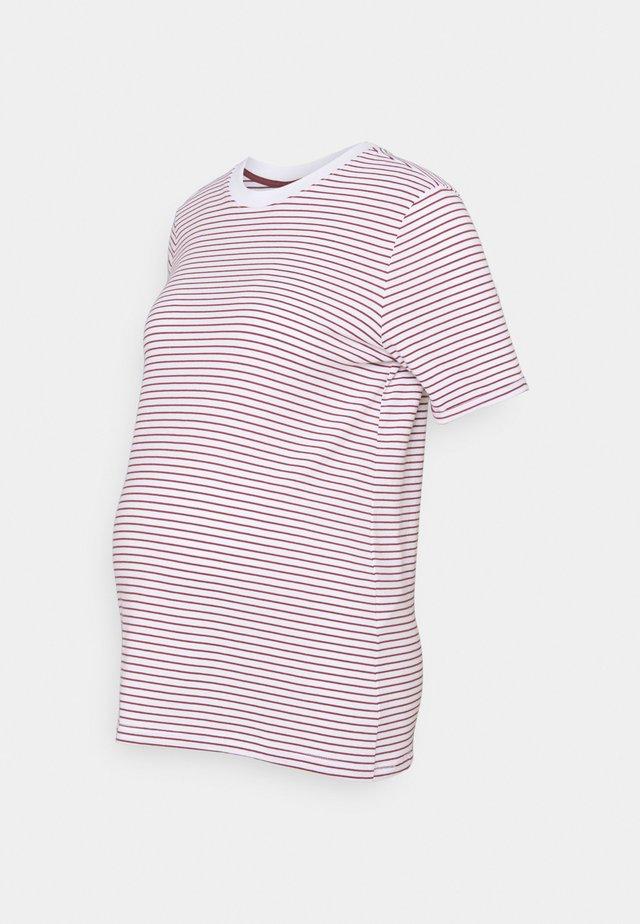 PCMRIA FOLD UP TEE - Print T-shirt - bright white/apple butter
