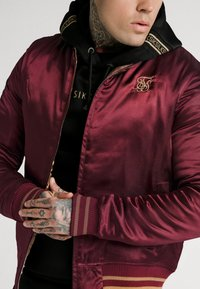 SIKSILK - JACKET - Giubbotto Bomber - burgundy/gold-coloured