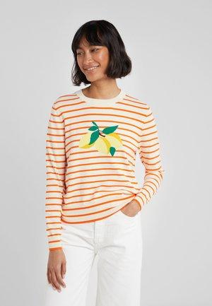 LEMON - Pullover - cream/true orange/multi