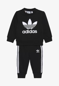 adidas Originals - CREW SET UNISEX - Träningsset - black/white - 4