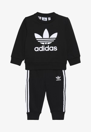 CREW SET UNISEX - Tracksuit - black/white