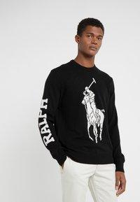 Polo Ralph Lauren - LORYELLE BIG  - Strikkegenser - polo black/cream - 0